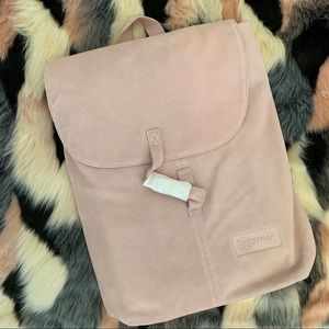 NWT: Eastpak Ciera Suede Pink Leather Backpack